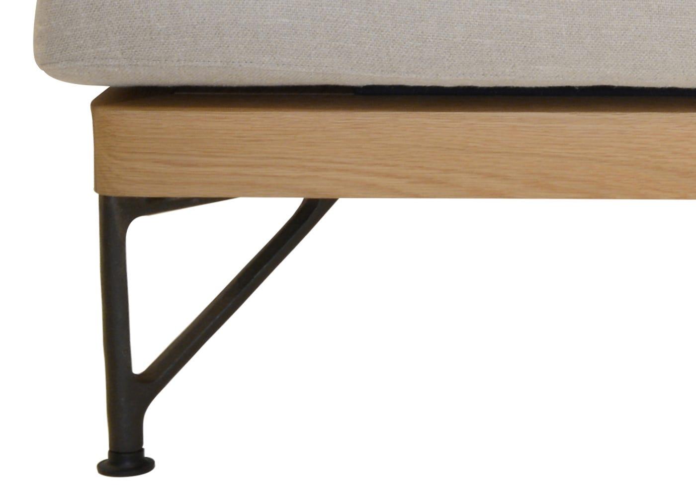 De La Espada Armstrong 2 Seater Sofa Sahara Linen White Oak Frame ...