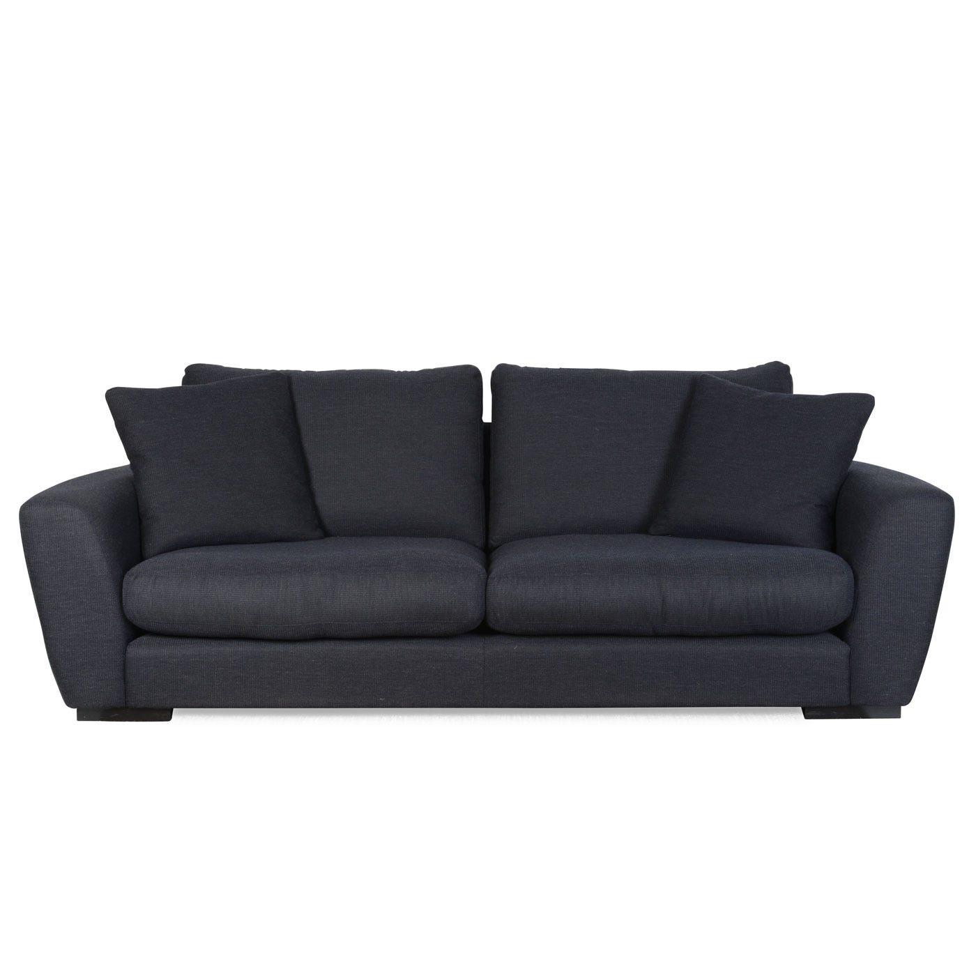 Slouch 4 Seater Sofa Octet Midnight Ebony Feet