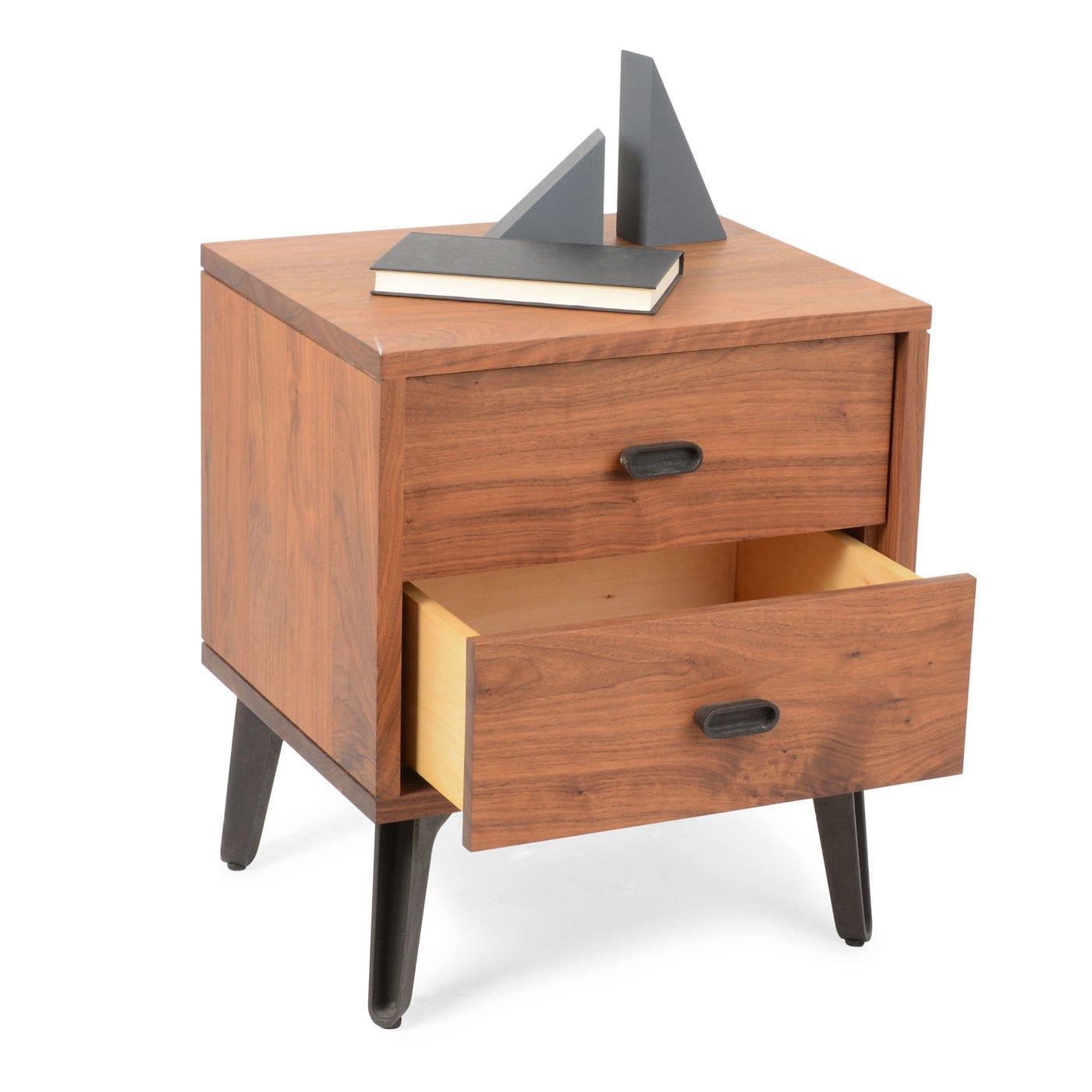 Bedside Desk mcqueen bedside table walnut - bedside tables - bedroom furniture