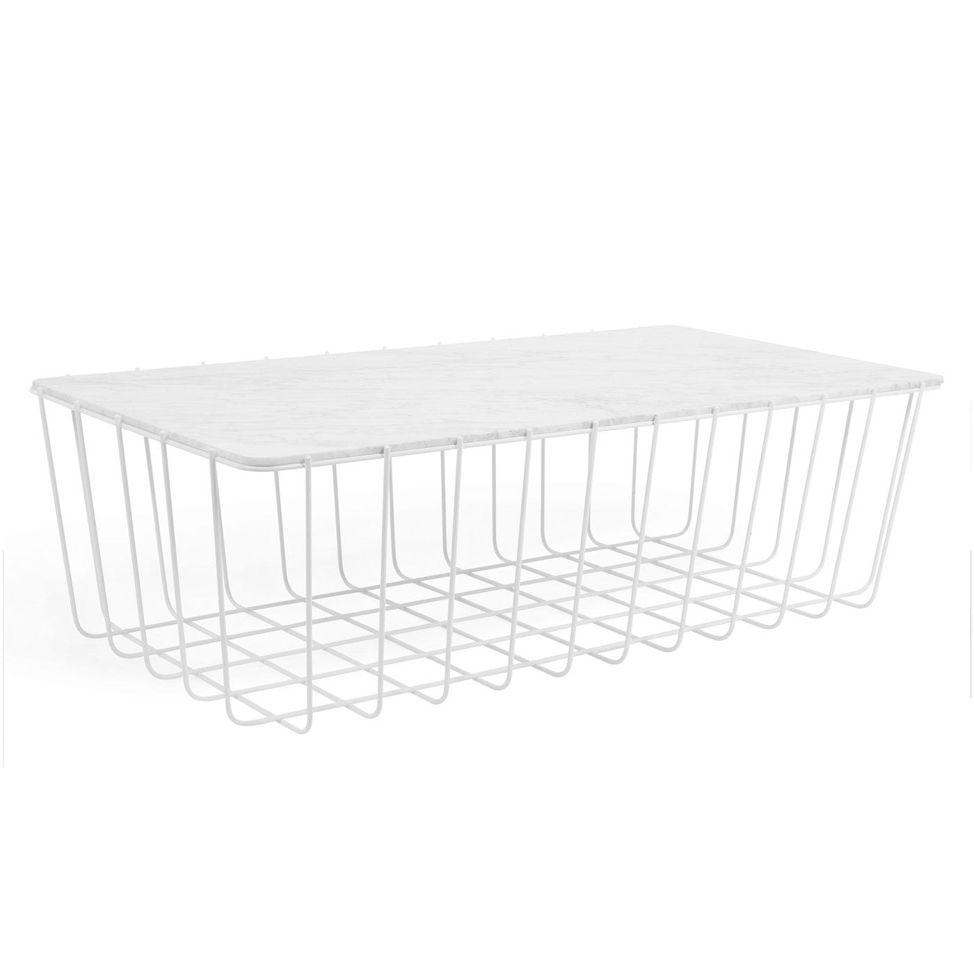 Scamp Large Table with White Base and Marble Top