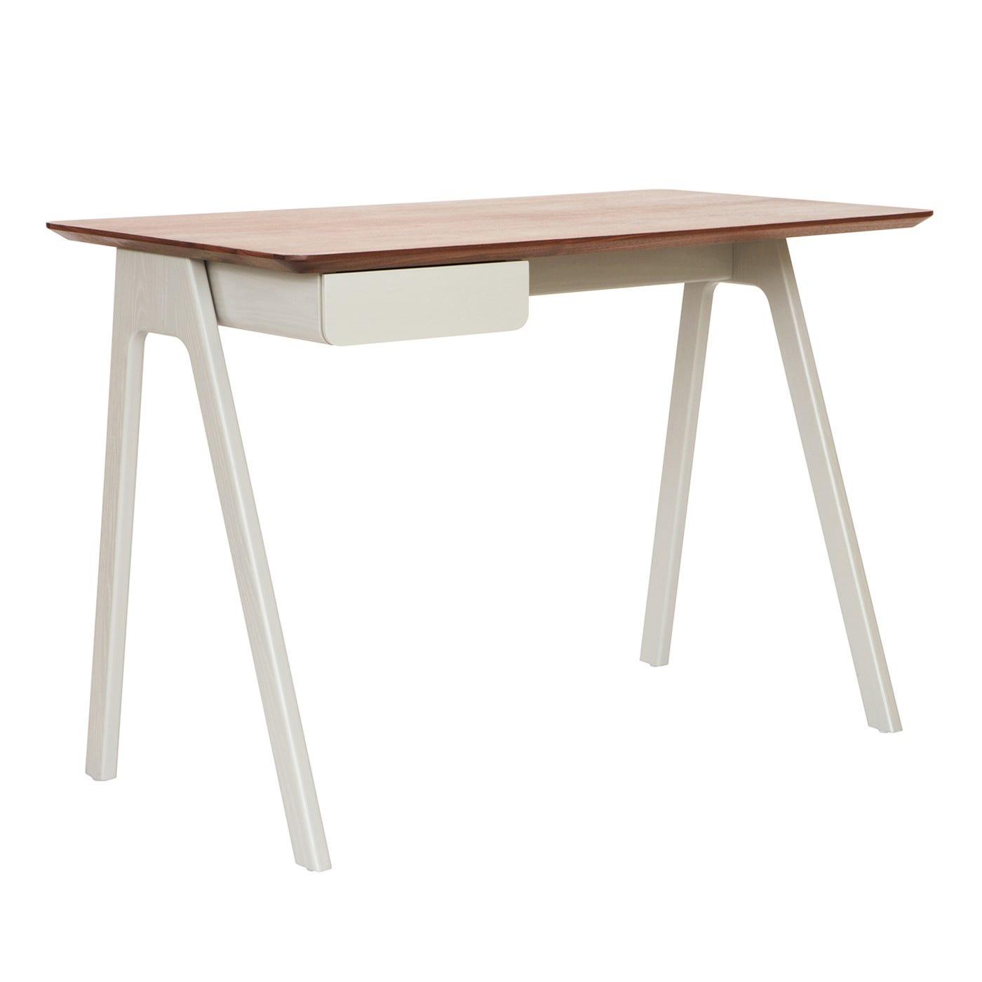 Blu Dot Stash Desk White Ash White