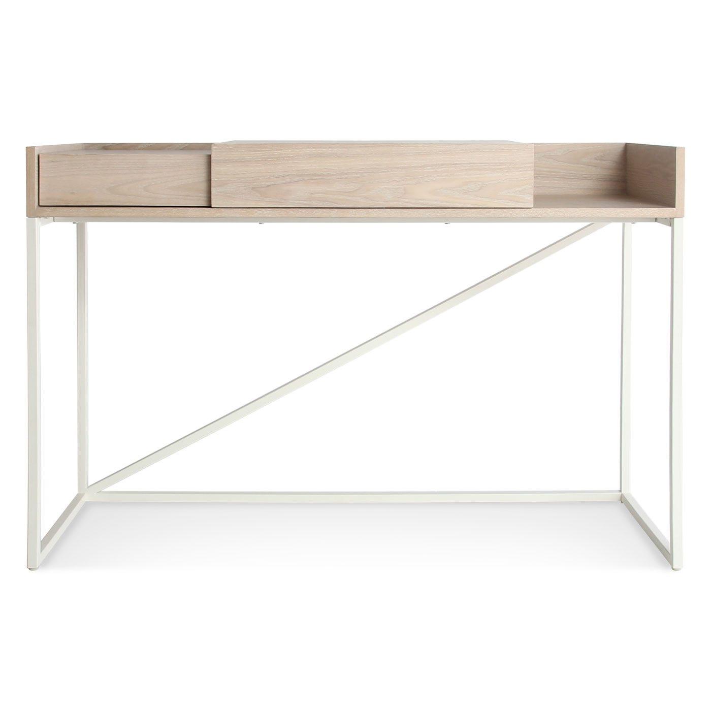 Swish Console Desk White Ash White