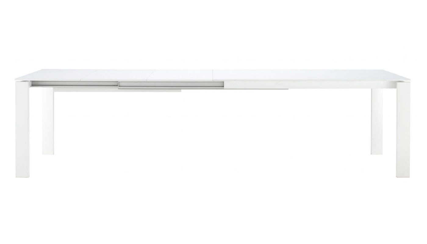 Ligne roset bianco dining table 4 6 seater white glass bianco dining table 4 6 seater white glass geotapseo Gallery