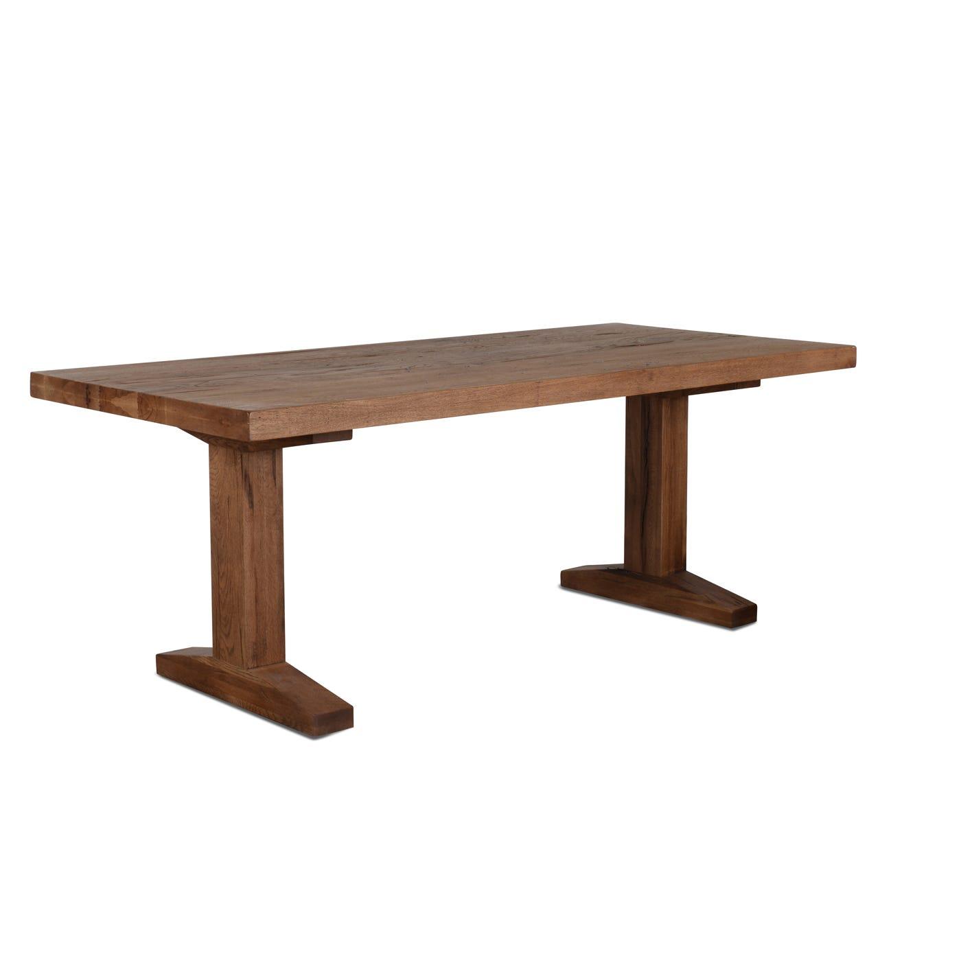 Tuscan Rustic Antique Wild Oak Table 200 x 90