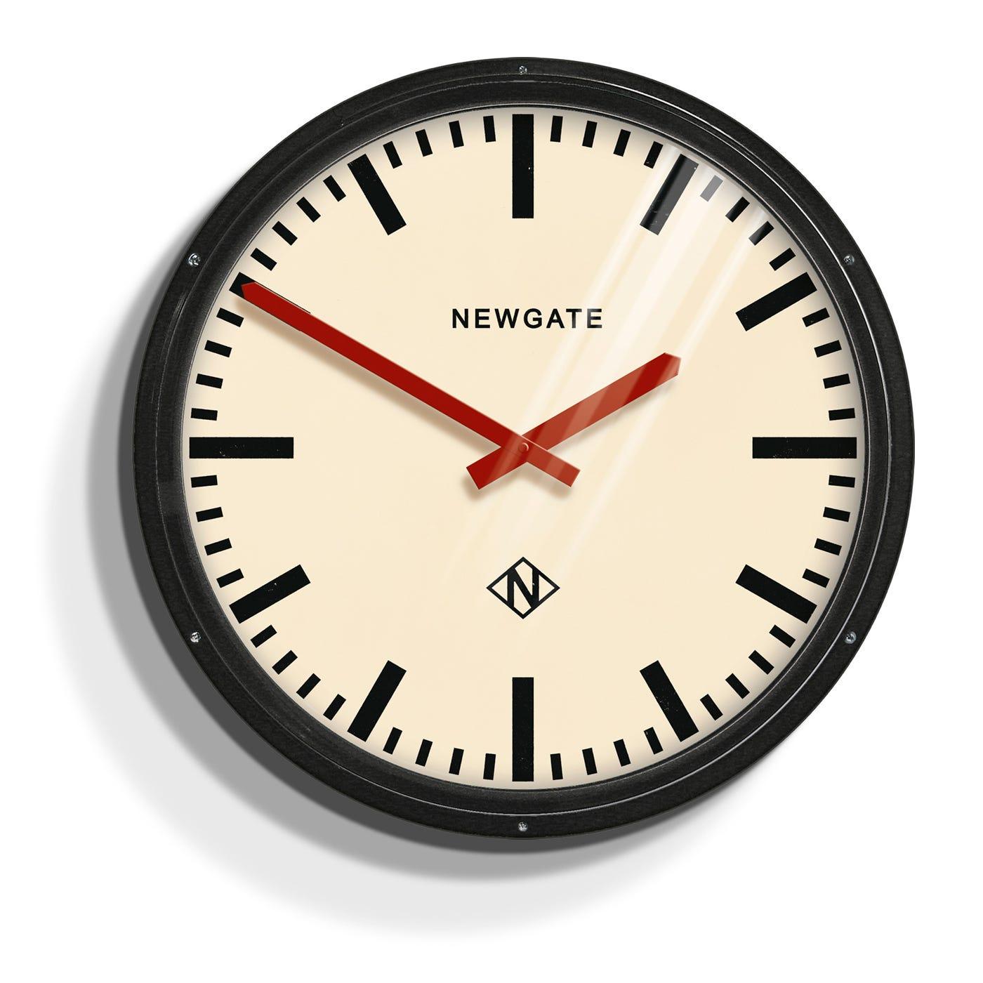 newgate metropolitan black wall clock - metropolitan black wall clock