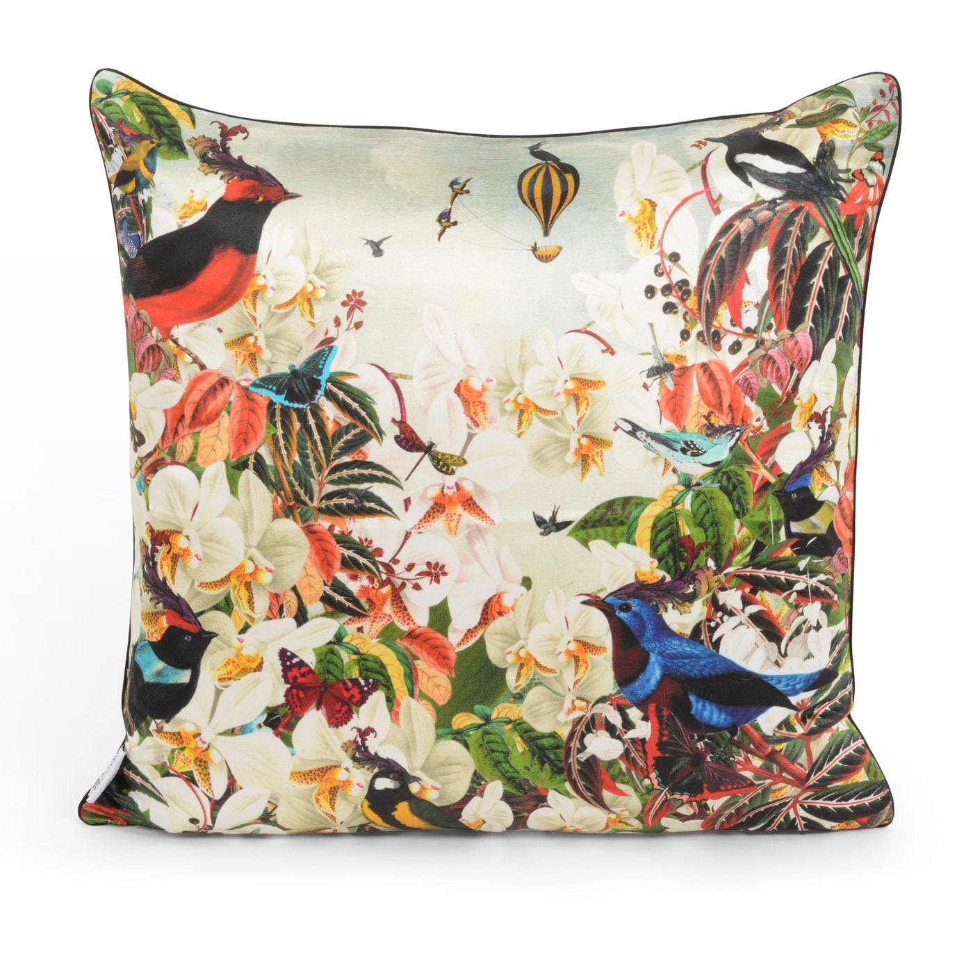 Water Birds Floral Cushion