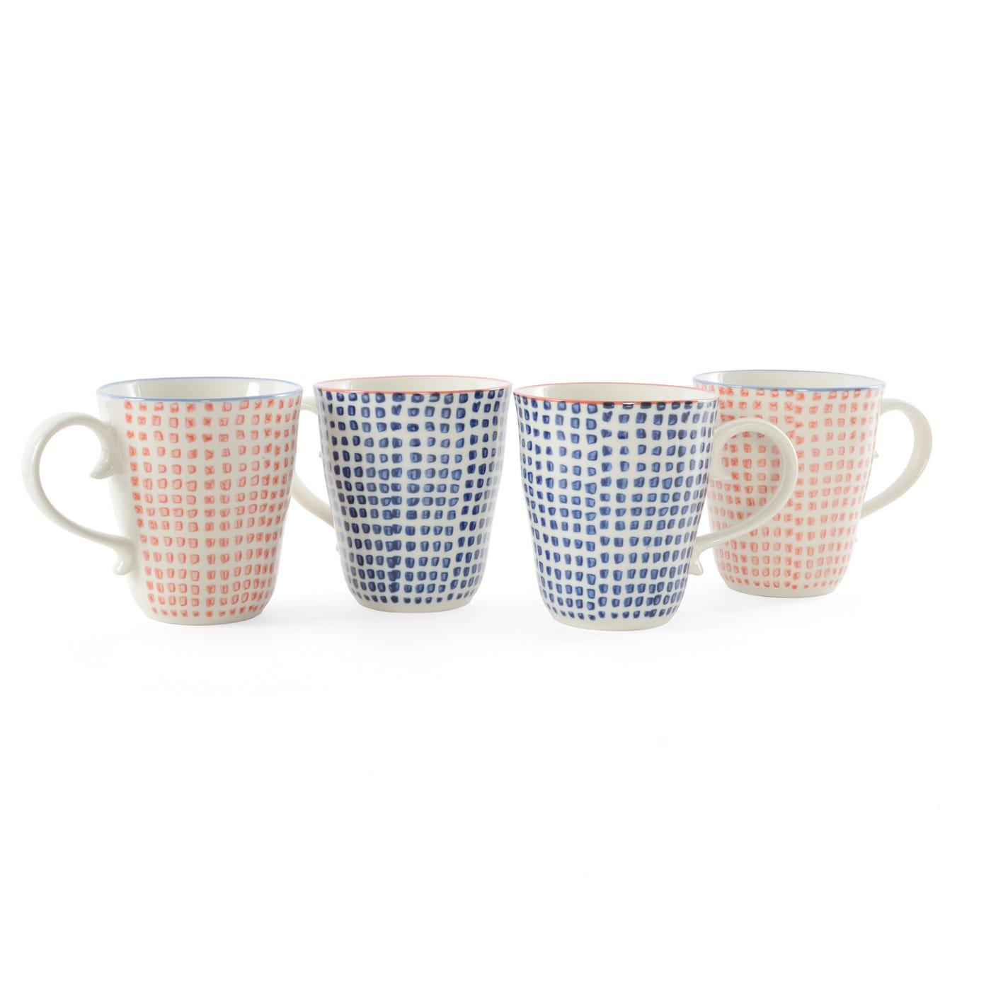 Block Mugs Assorted Set of 4