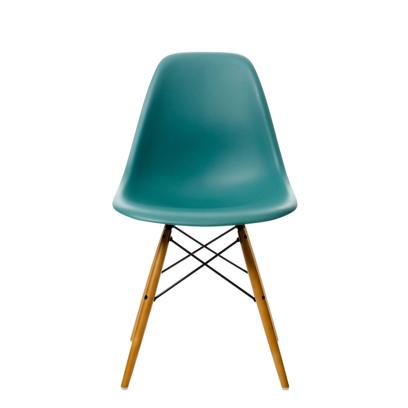 Vitra Eames Dsw Chair Ocean Light Maple Legs