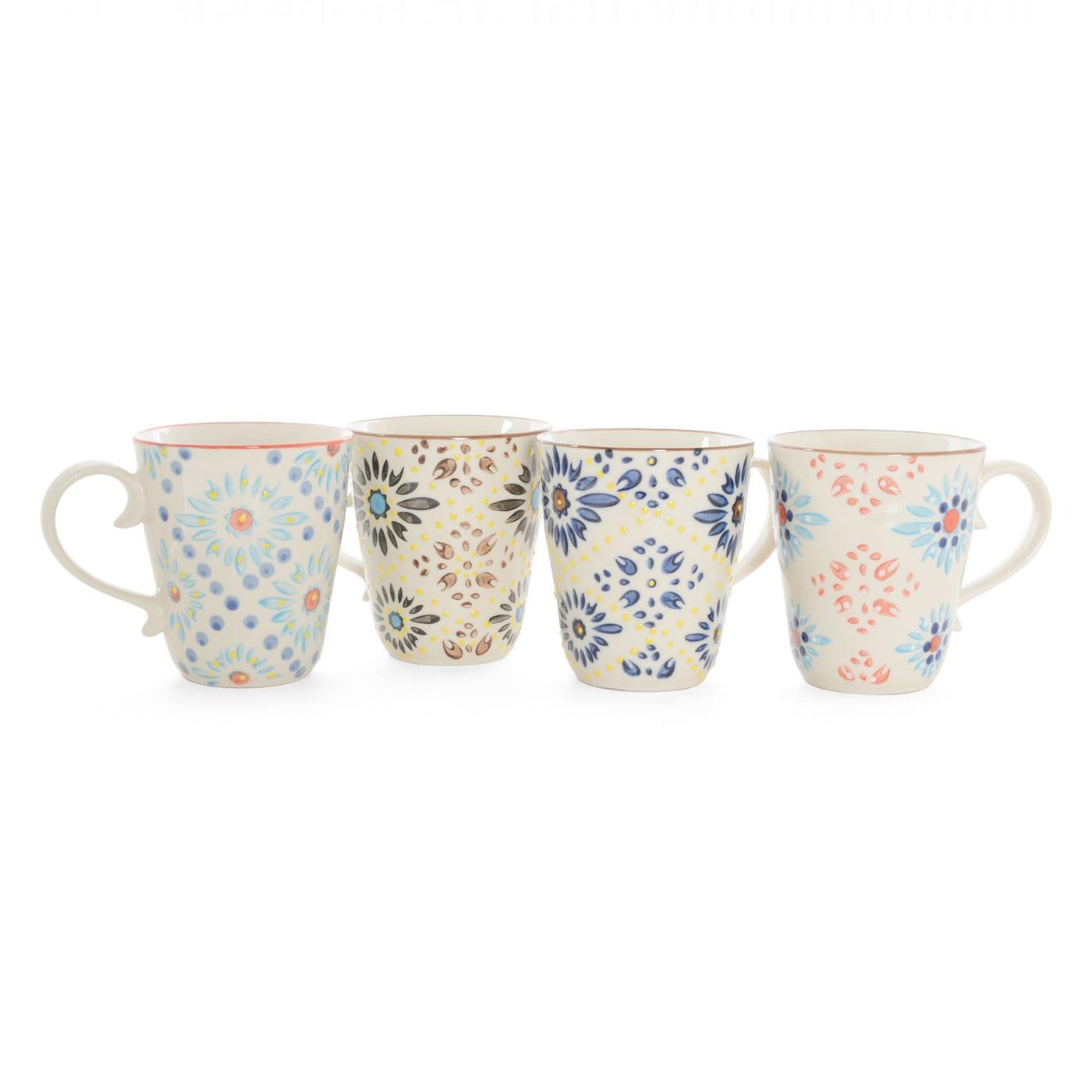 Mosaic Mugs Assorted Set Of 4