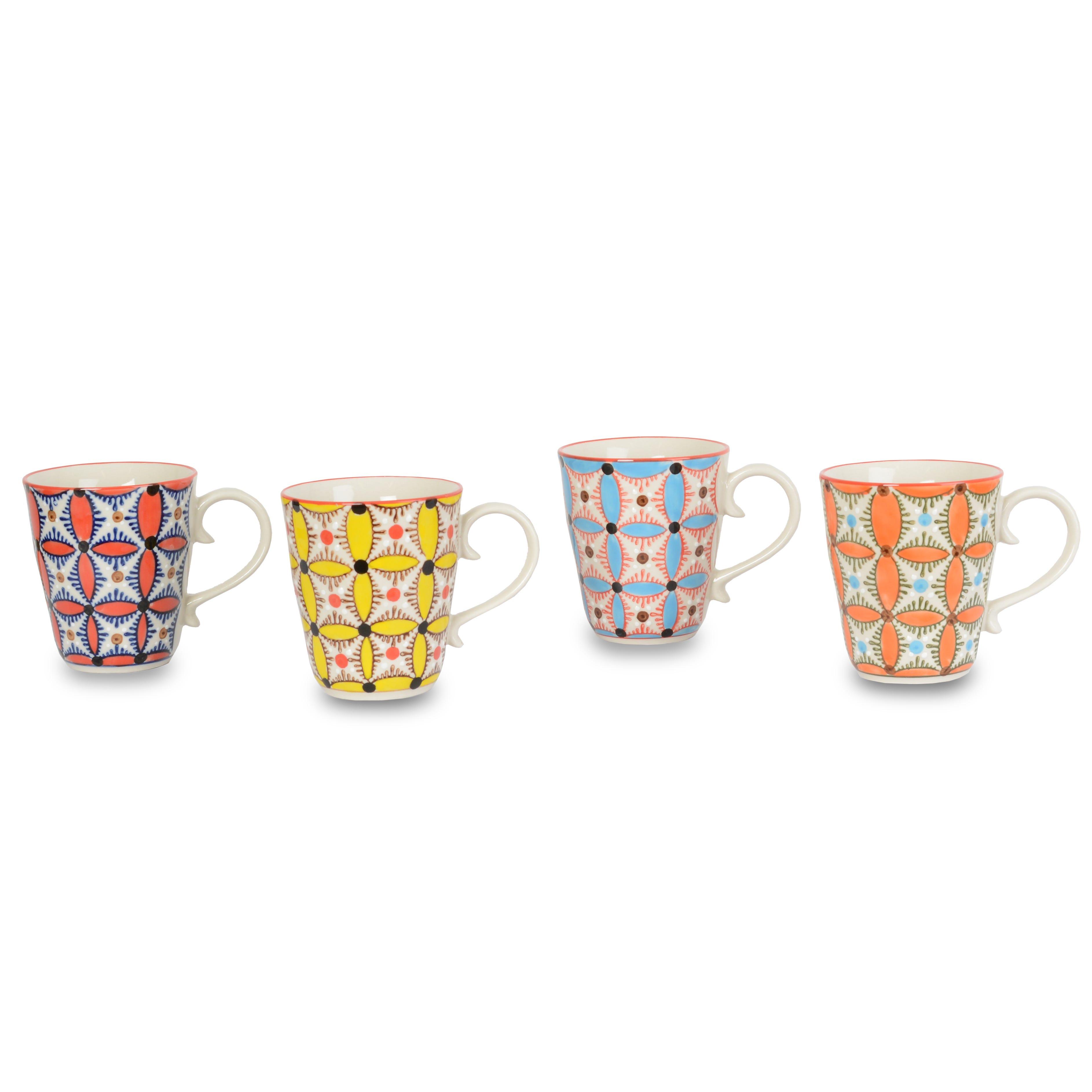 Hippy Mugs Assorted Set of 4