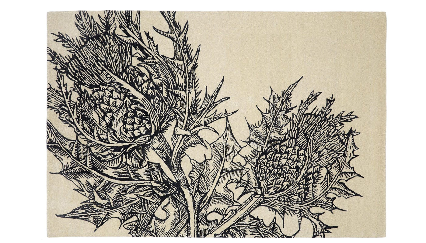 Editions By Christopher Farr Thistle Rug 195 x 290cm Cream