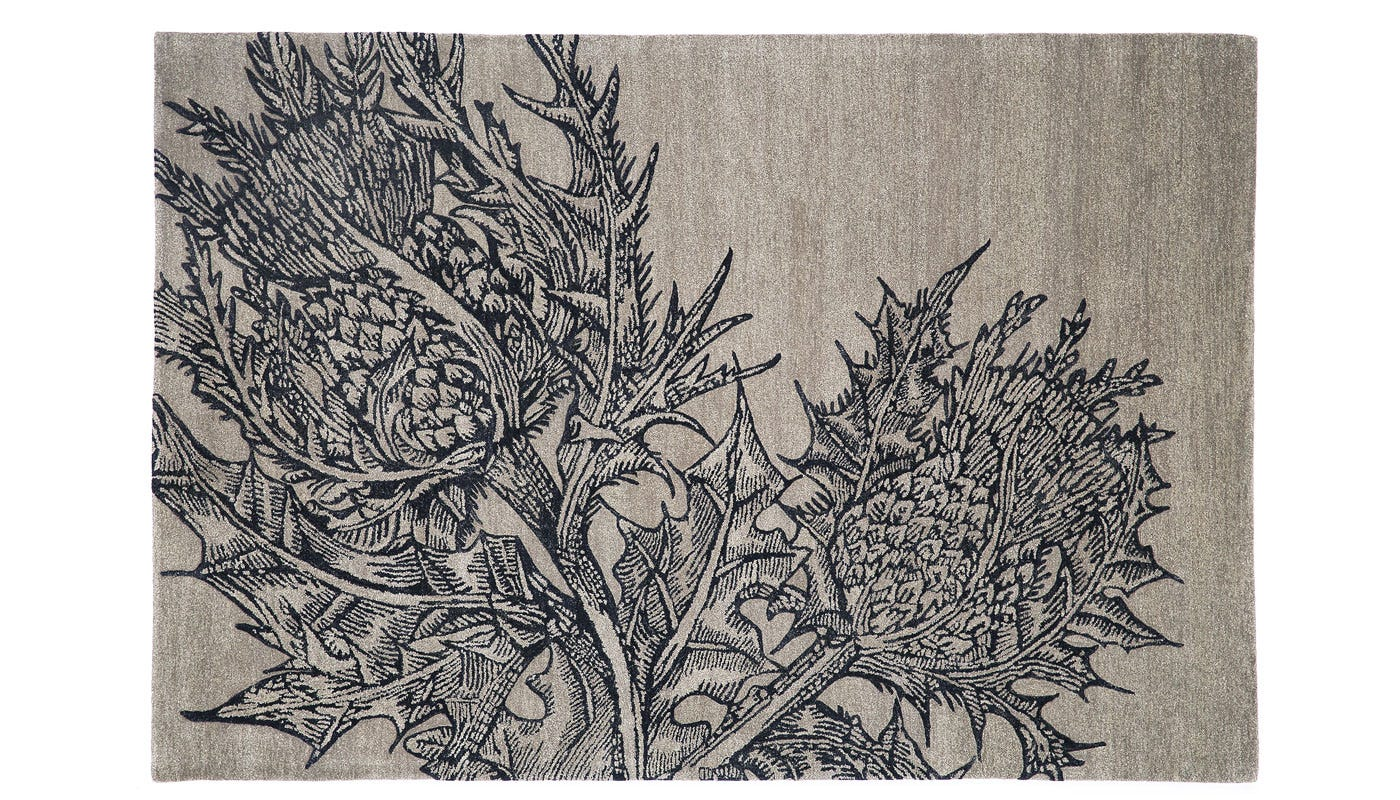 Editions By Christopher Farr Thistle Rug 195 x 290cm Stone