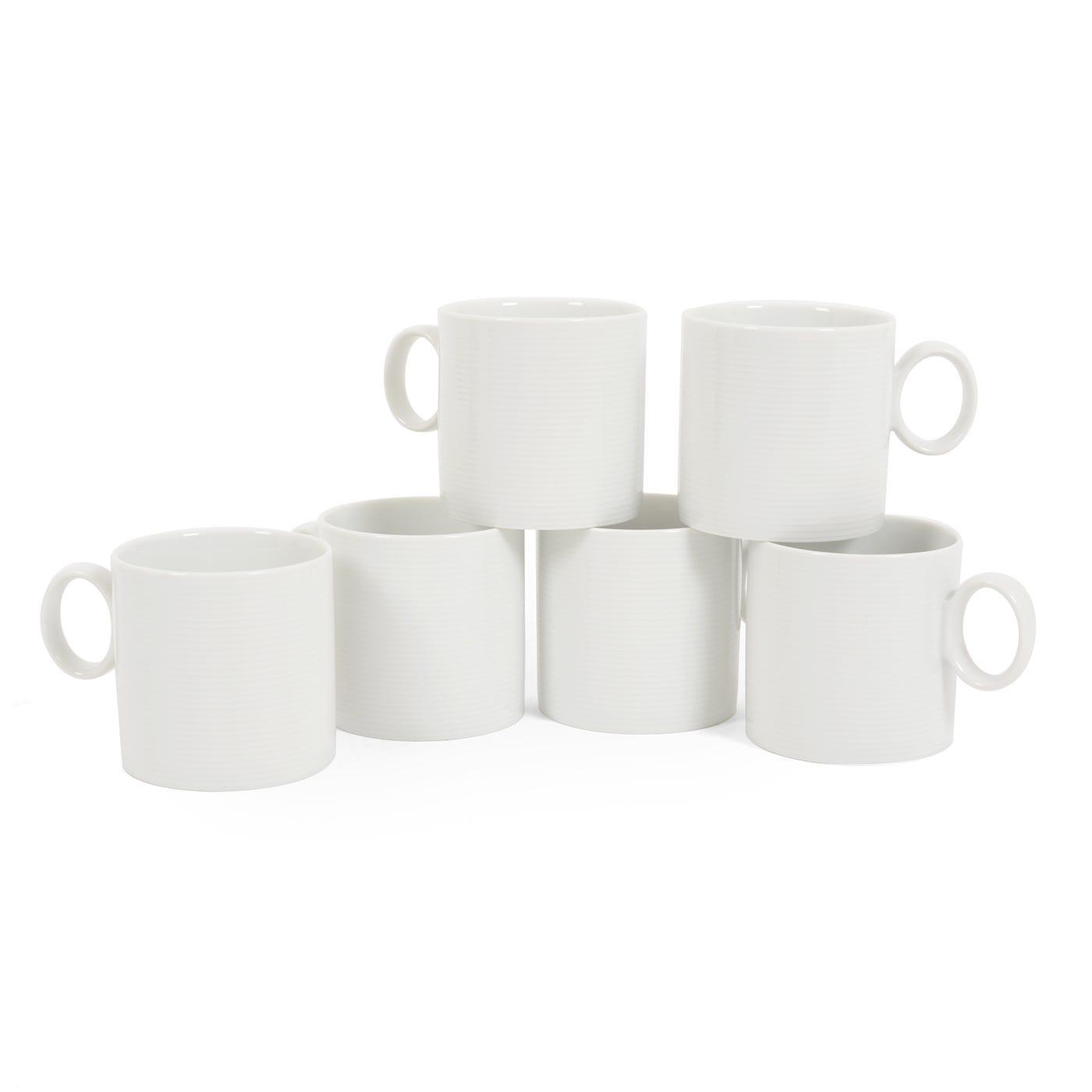 Loft White Mug with Handle Set of 6