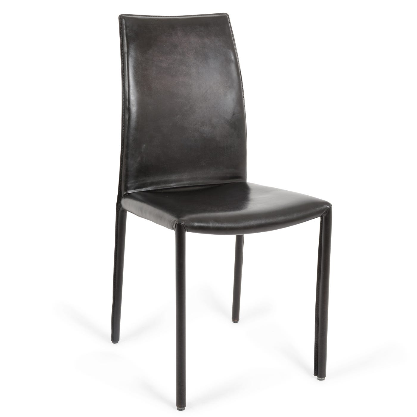 leather side chairs. Buffalo Side Chair In Black Leather Chairs