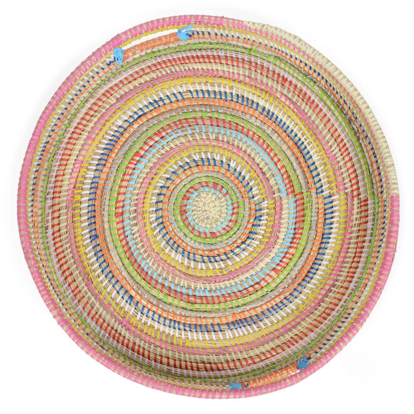 Multi Colour Round Tray