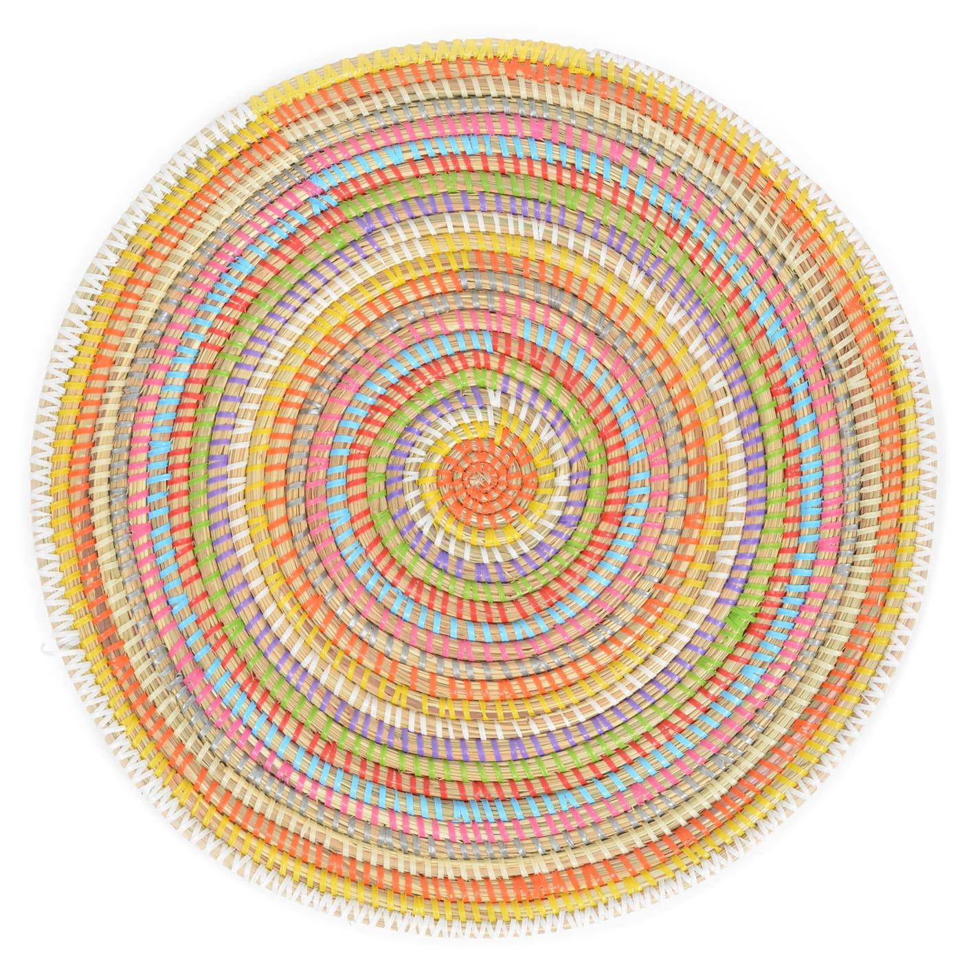 Multi Colour Plate Mat