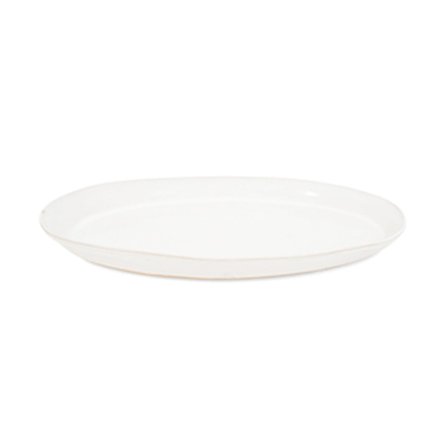 Shallow Round Platter White