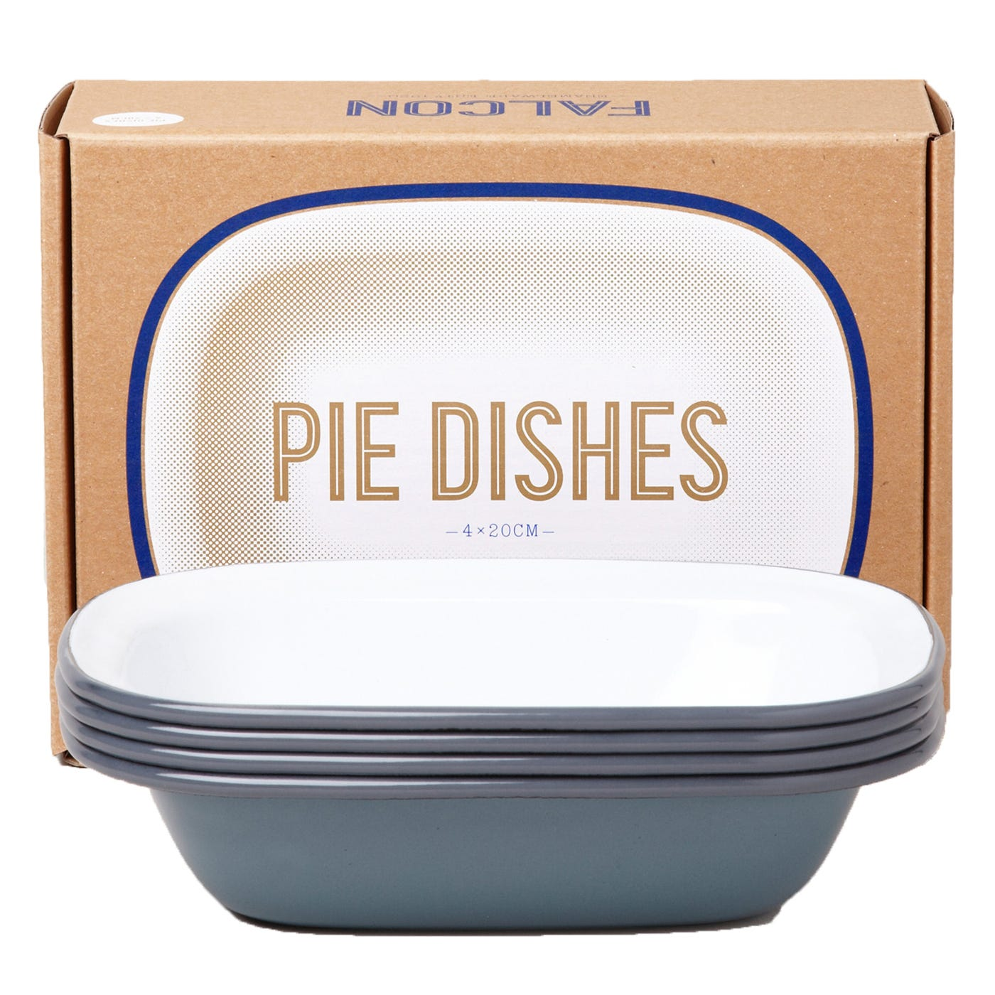 Falcon Pigeon Grey Small Pie Dishes Set Of 4
