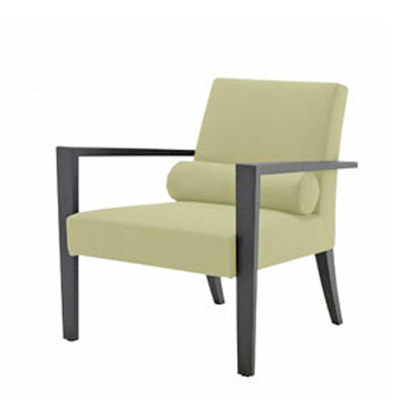 ligne roset frenchline armchair alcantara pistachio black oak heal s. Black Bedroom Furniture Sets. Home Design Ideas