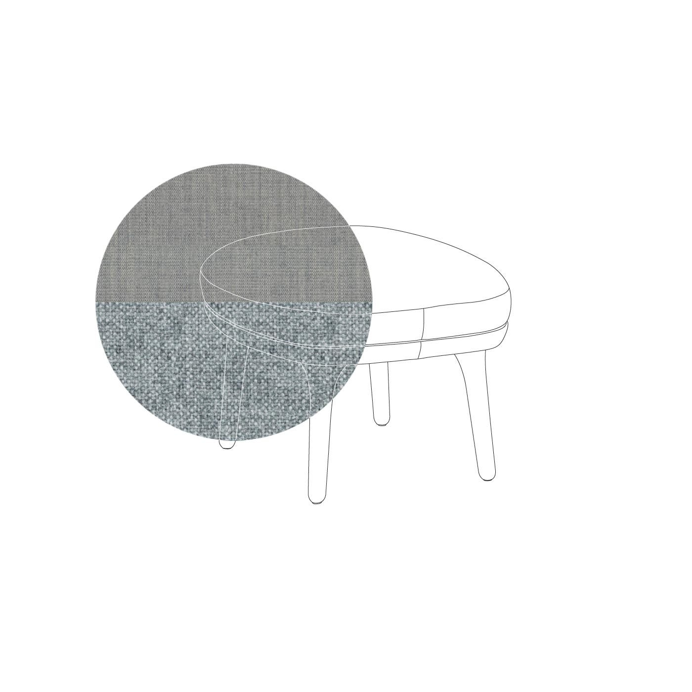 Ro Easy Footstool Light Grey With Aluminium Legs