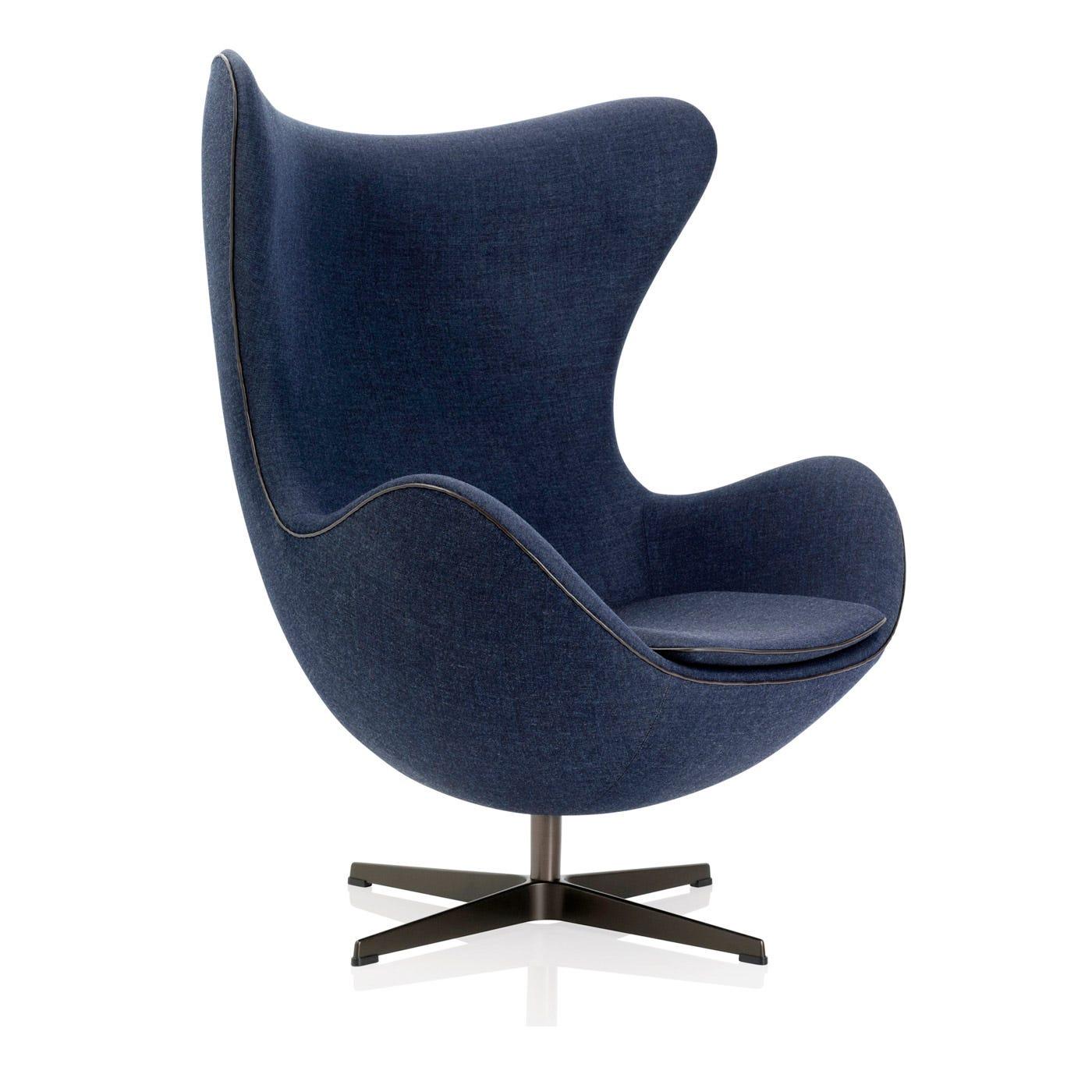 Egg Chair Canvas Dark Blue