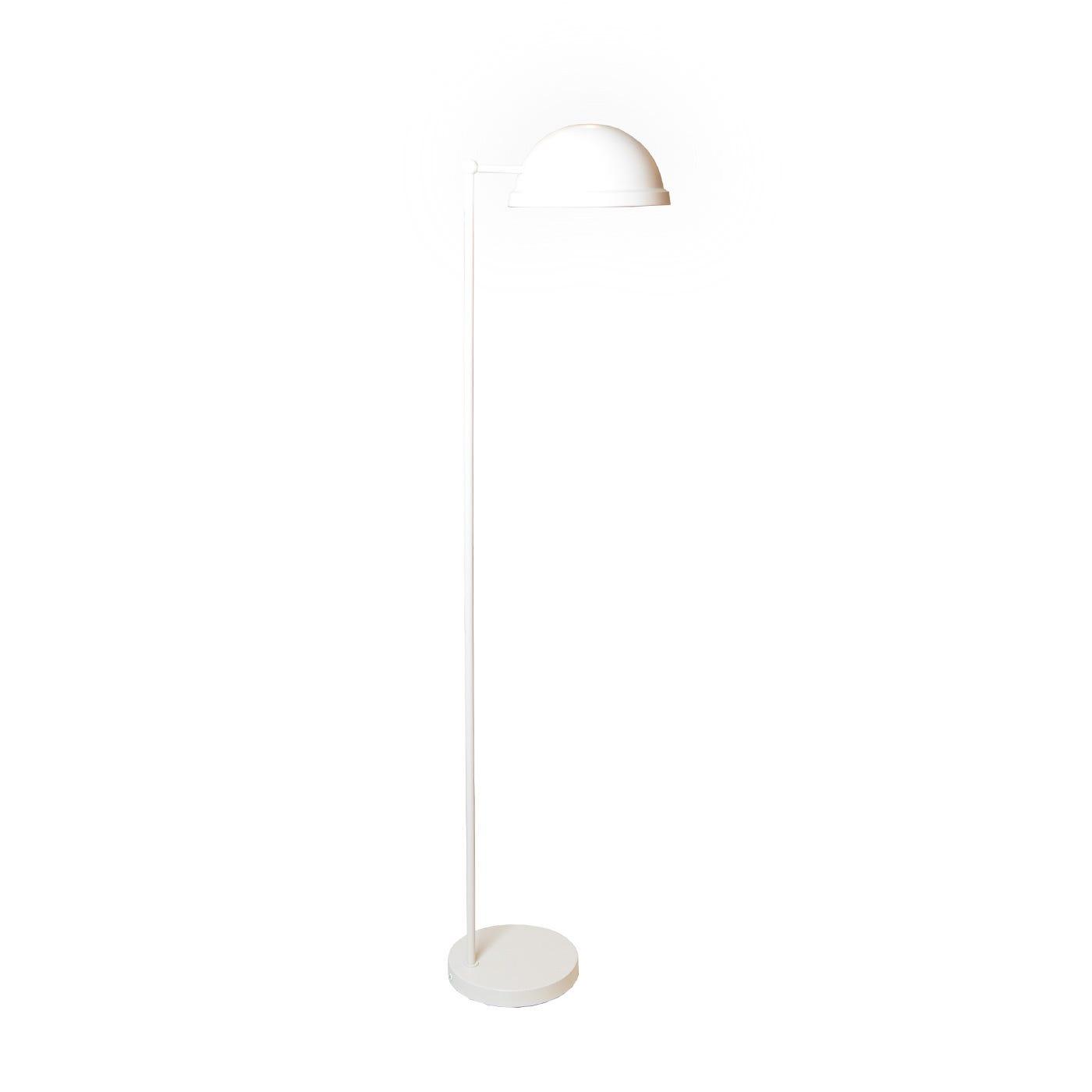 Bowler Floor Lamp White