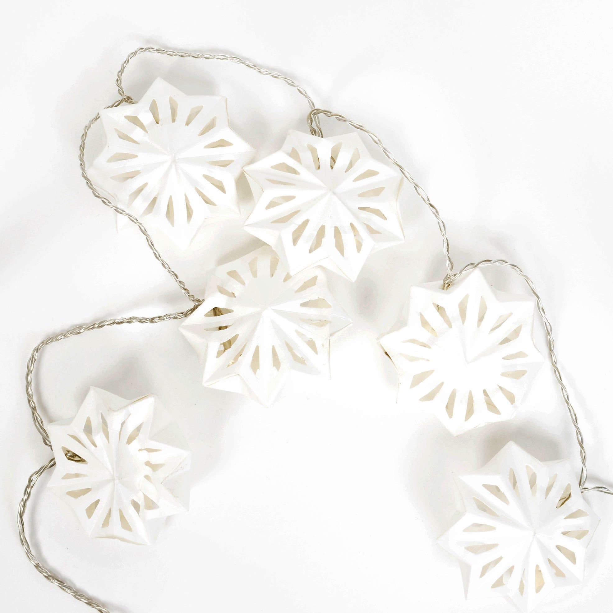 String Of Paper Snowflake Lanterns