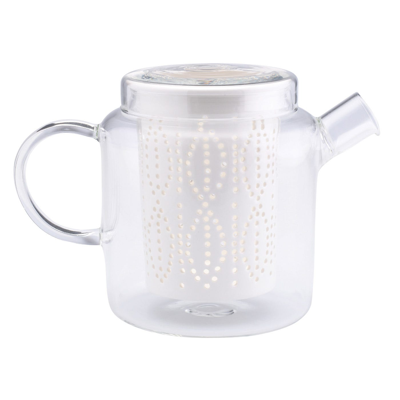 Glass Teapot With Porcelain Infuser 700ml