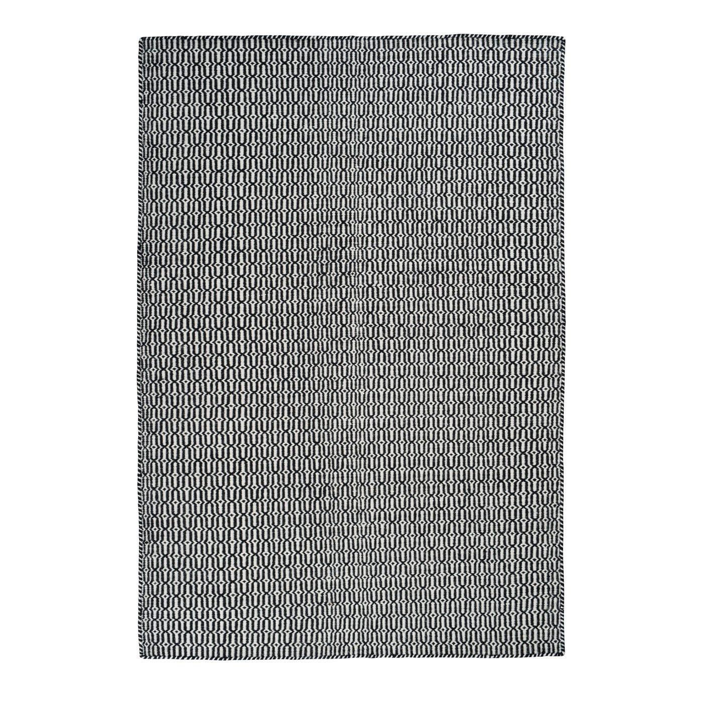Linie Designs Tile Rug 200 x 300cm Black & White