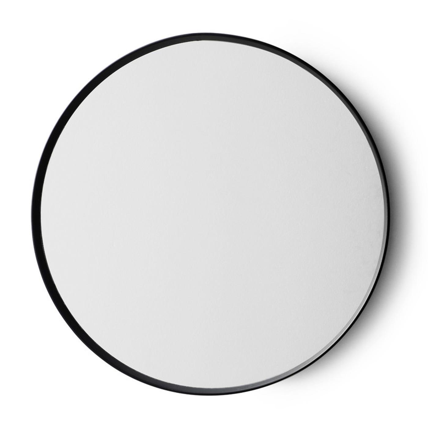 Norm Black Round Mirror