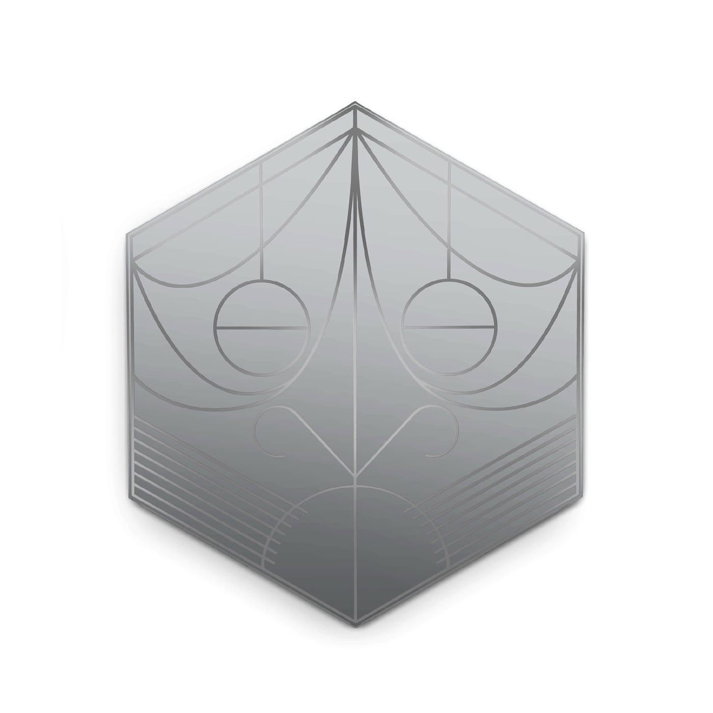 Petite Friture Mask Hexagon Lead Wall Mirror