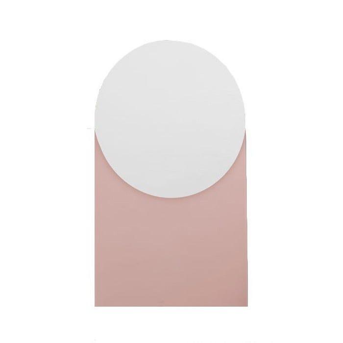 Hay Round Dusty Pink Mirror