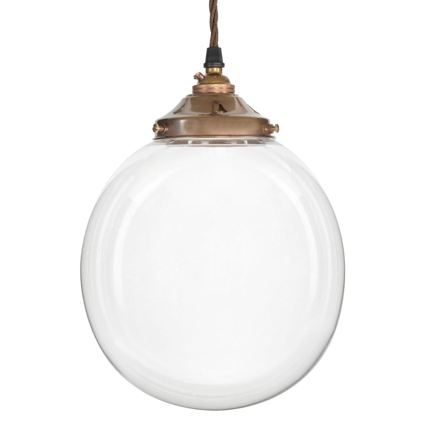 Old School Electric Glass Globe Pendant Light Antique ...