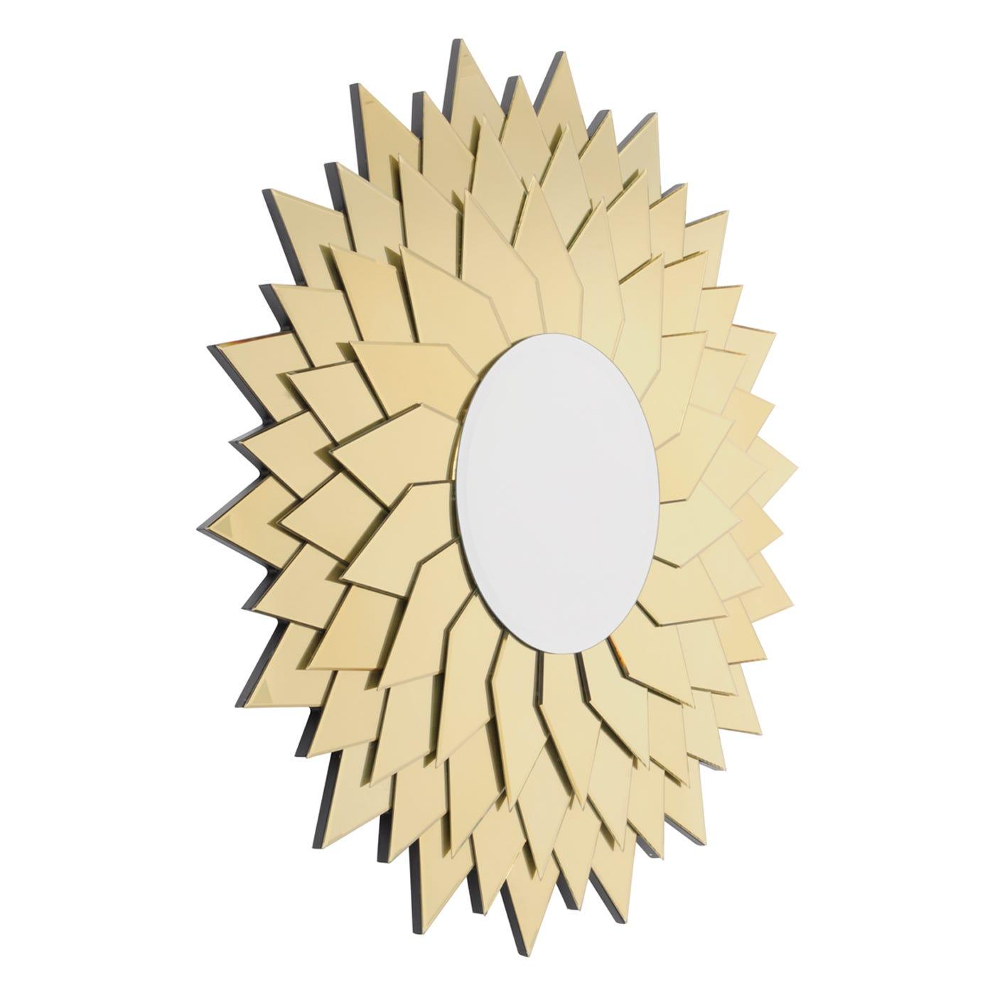 Empire Golden Leaves Glass Framed Mirror