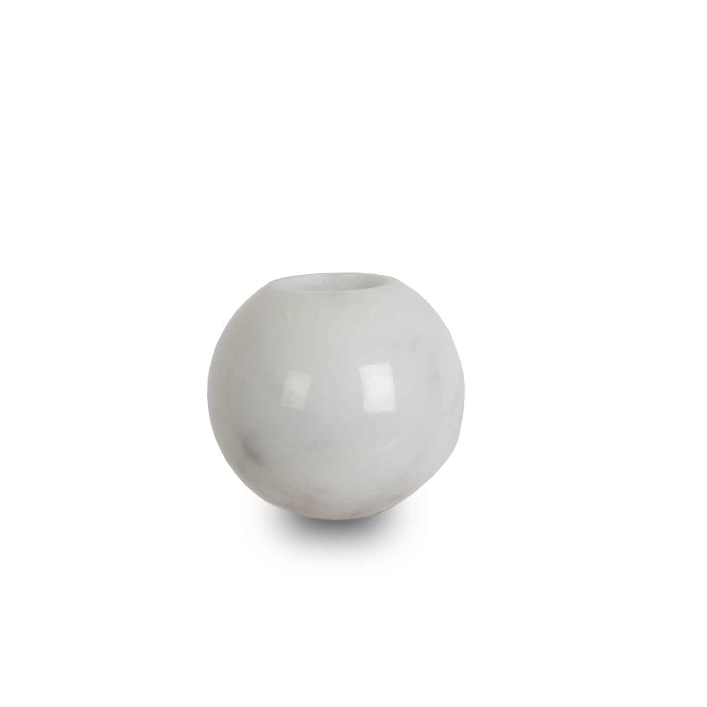 Marble Sphere Candle Holder