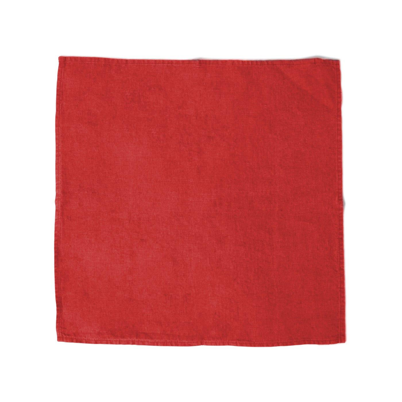 Heal's Linen Napkin Red