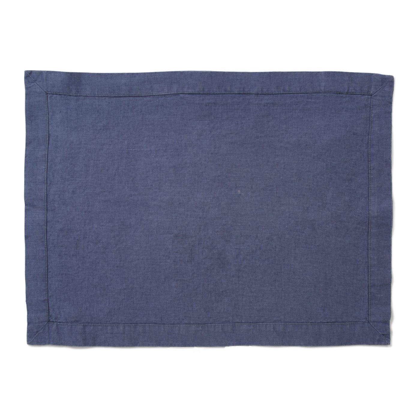 Heal's Linen Placemat Denim Blue
