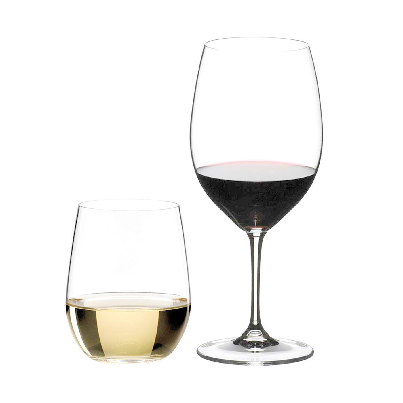 Vinum 4 Bordeaux & 4 Free O Wine Viognier Glasses