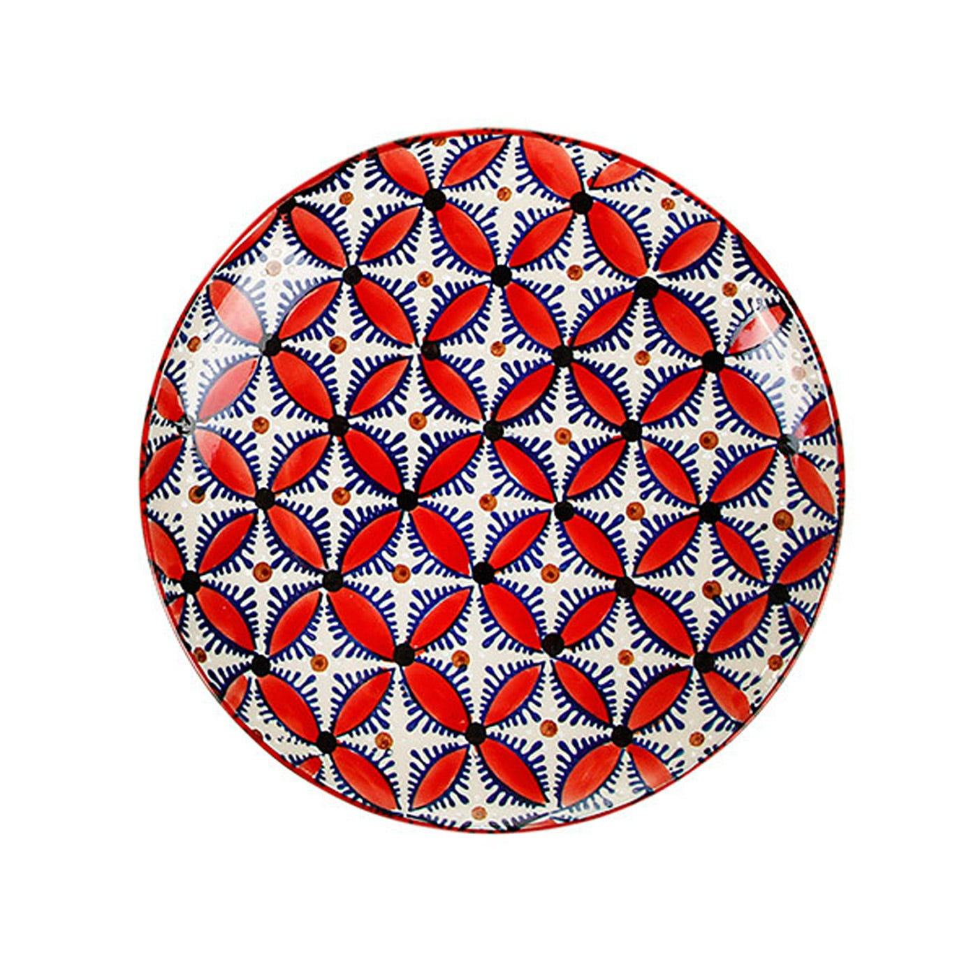 Hippy Dinner Plate Red