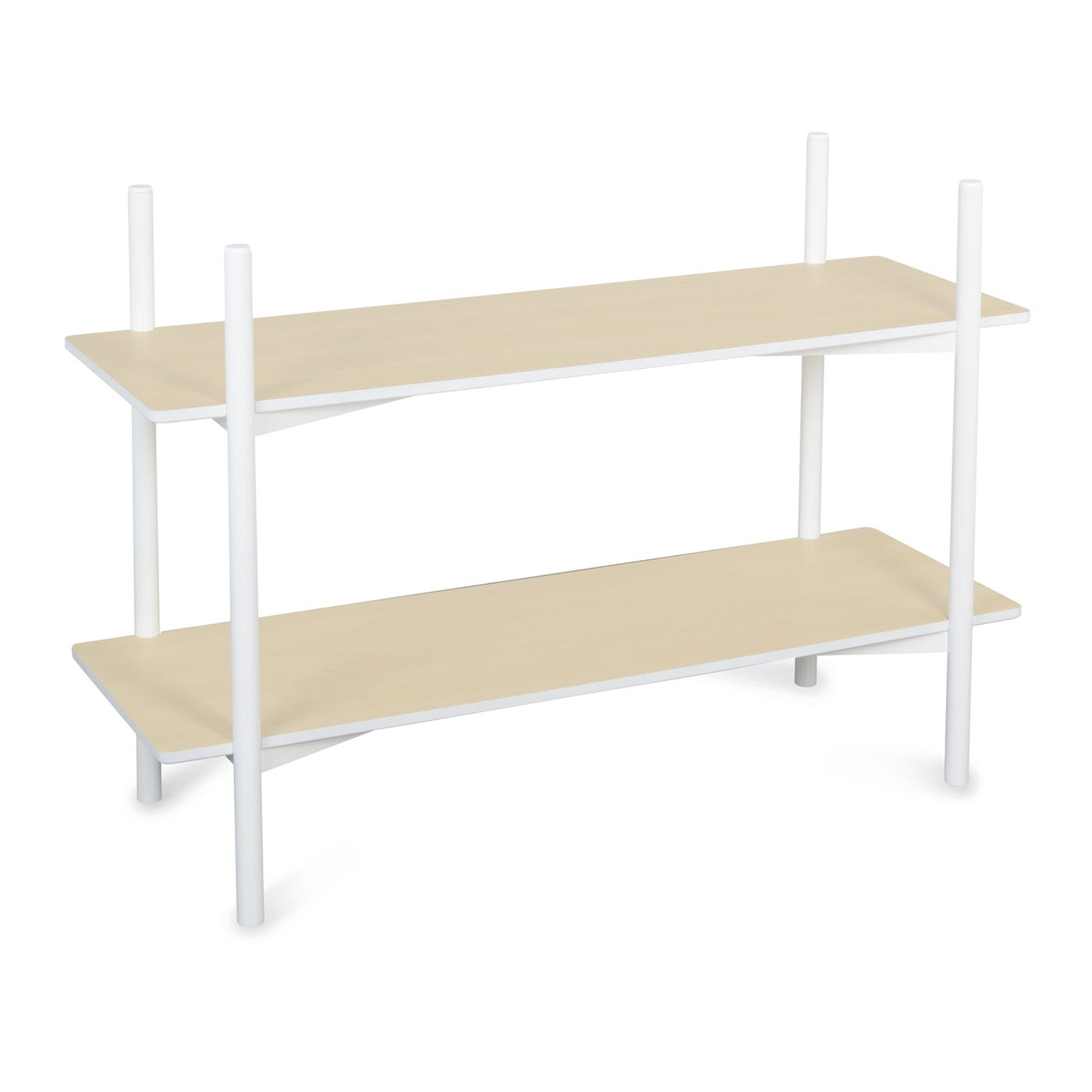 Heal's Dodie Ash Two Shelf Shelving Unit White Lacquer