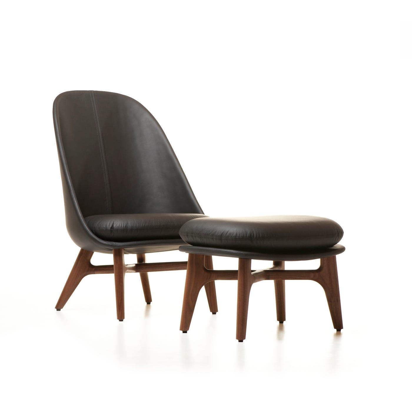 Solo Lounge Chair Walnut