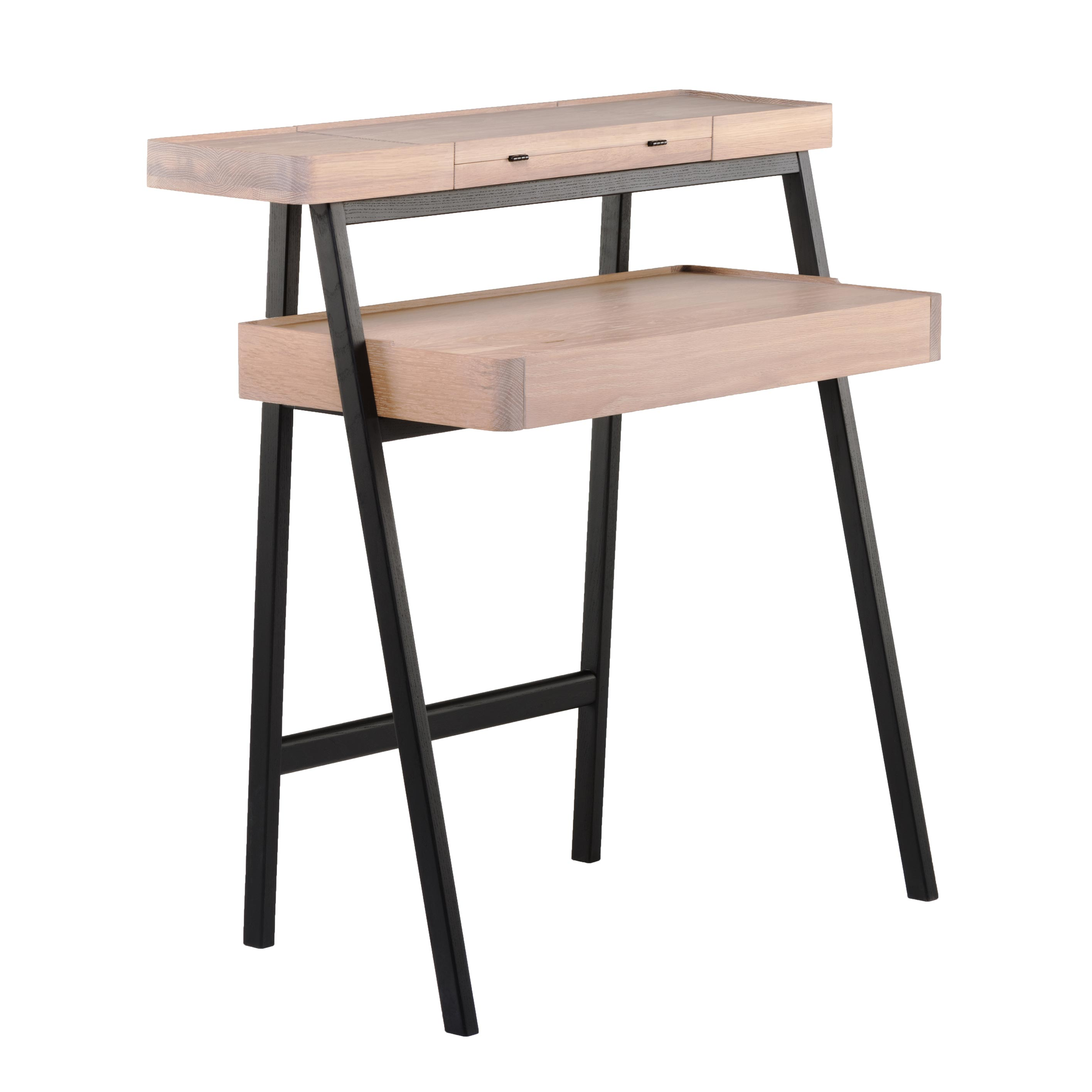 Tray Desk White Oiled Oak
