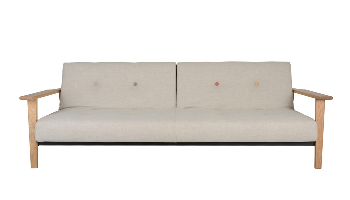 Knap Sofabed With Wooden Arms Discontinued