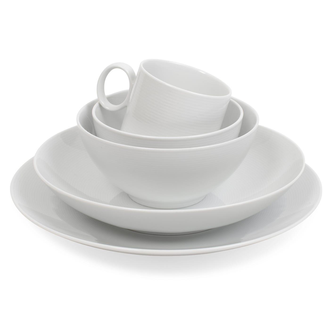 modern  designer dinnerware  heal's - loft white dinnerware