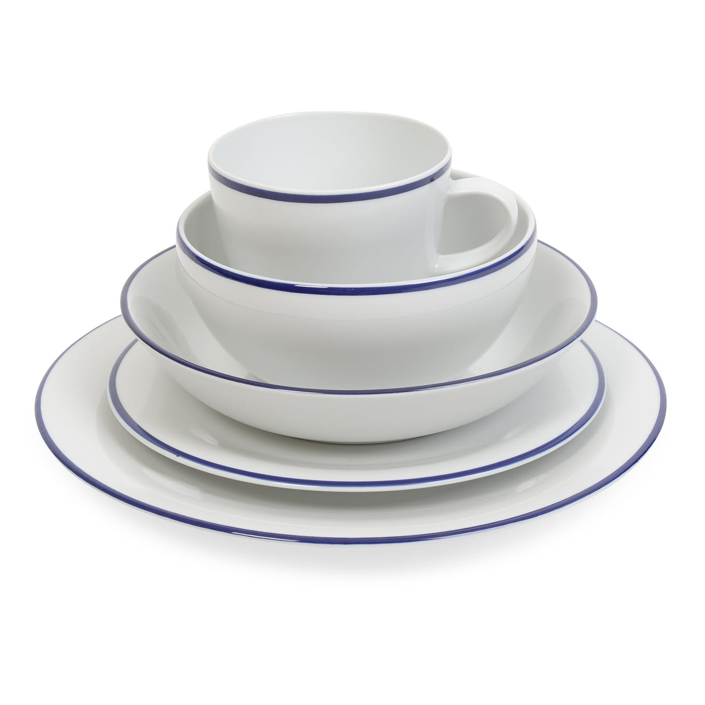 Seamless Blue Tableware