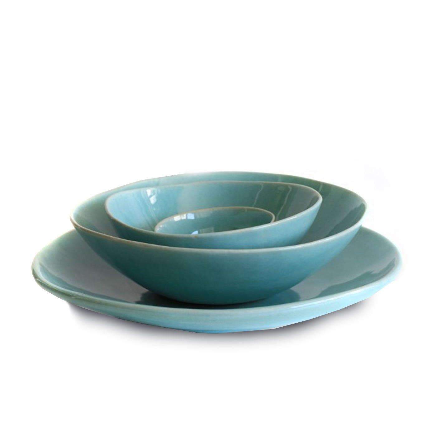 Monochromatic Dinnerware Aqua