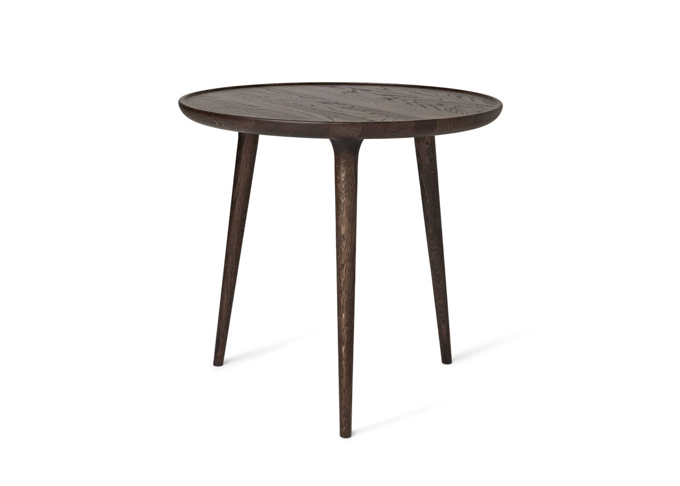As Shown: Accent Side Table Sirka Grey Stained Oak in Large