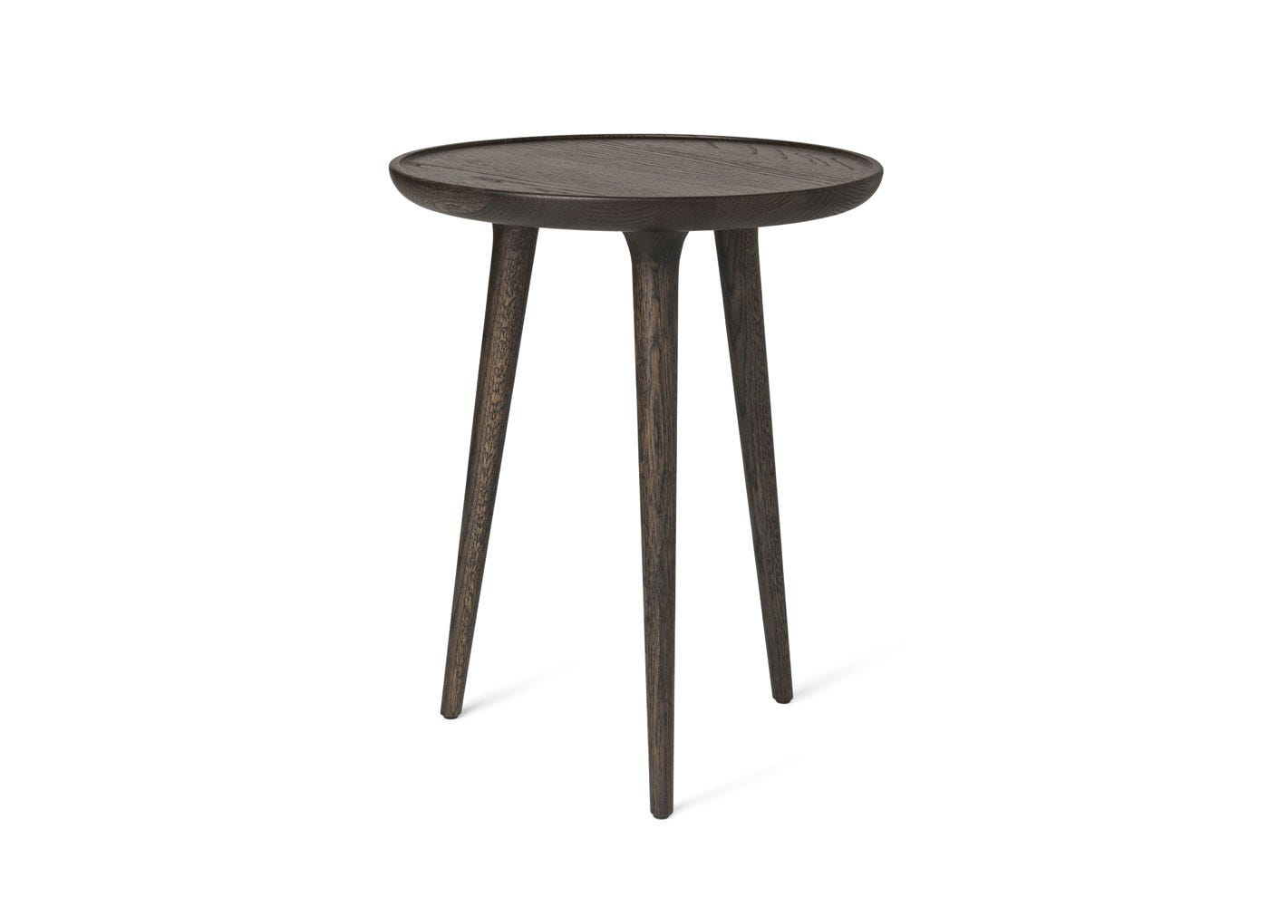 As Shown: Accent Side Table Sirka Grey Stained Oak in Medium