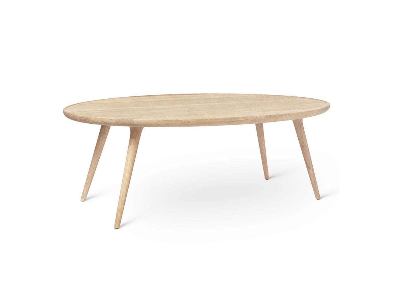 As Shown: Accent Oval Coffee Table in Matt Lacquer