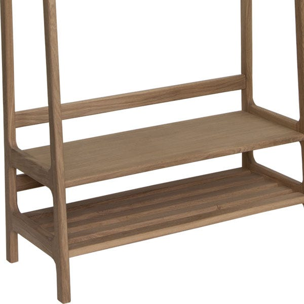 Low shelving, ideal for storing shoes.